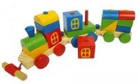 Mainan Kereta Api Kayu Pelangi